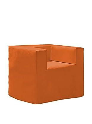 Evolution Plus 5 Poltrona Pouf/Materasso Ortop. 78X78X69H  Arancione