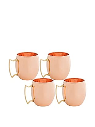 Old Dutch International Set of 4 Solid Copper 16-Oz. Unlined Moscow Mule Mugs