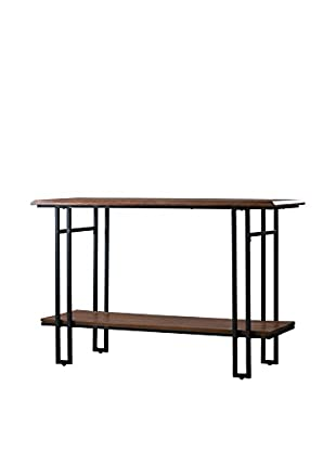 Baxton Studio Newcastle Wood & Metal Console Table, Brown/Antique Bronze