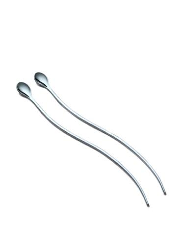 Philippi Swirl Latte Macchiato Spoons, Set of 2