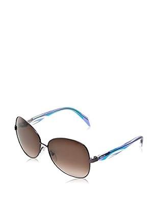 Pucci Sonnenbrille EP133S (61 mm) dunkelgrau/himmelblau/flieder
