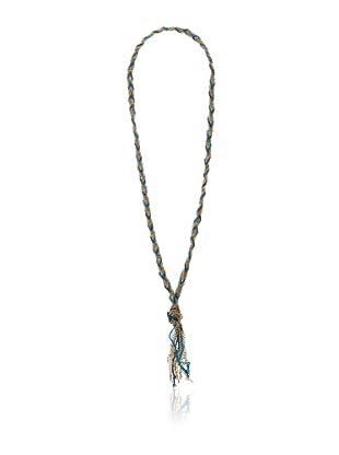 Haute Rebellion Tassel Necklace, Aqua