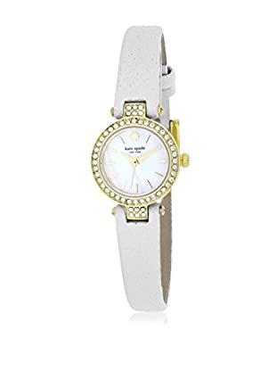 kate spade new york Women's 1YRU0718 Tiny Metro White/Mother of Pearl Stainless Steel and Leather Watch