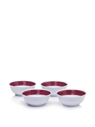 """Bongenre Set of 4 Louis Rouge 7"""" Bowls (Berry/Grey)"""