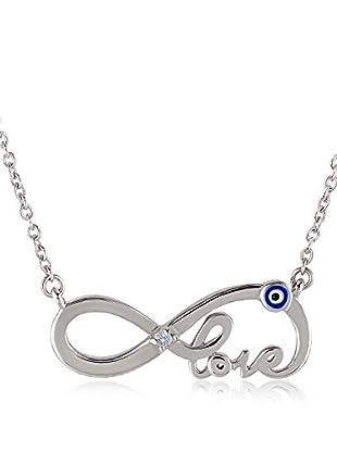 Divas Diamond Collar Diamond Infinity Love Plata