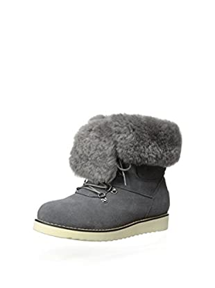 AUStralia Luxe Collective Womens Yael Lace Up Shearling Boot With Vibram Sole (Grey)