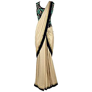 Chiku Textured Color Wedding Party Wear Traditional Designer Saree By Bollywood Divas