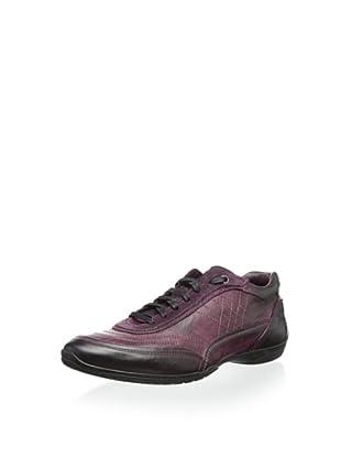 Bacco Bucci Men's Vinci Sport Shoe with Stitch Detail (Red)