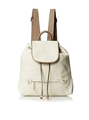 Halston Heritage Women's Solid Backpack, Bone/Ash