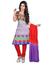 7 Colors Lifestyle Multi Coloured Cotton Unstitched Churidar Material - ADSDR2004HYBY