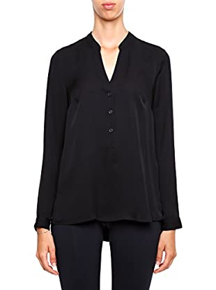 Michael Kors Blusa Henley Back Pleated
