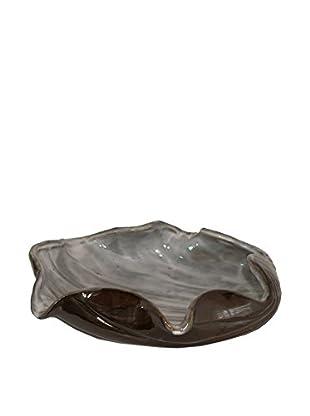 Three Hands Grey Ceramic Shell Bowl