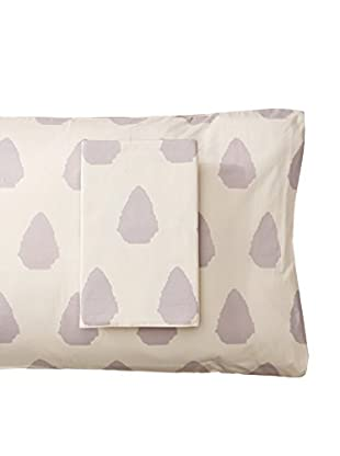 Allem Studio Pair of Seville Standard Pillowcases, Grey