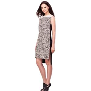 Print Front High Low Tunic Dress By KOOVS