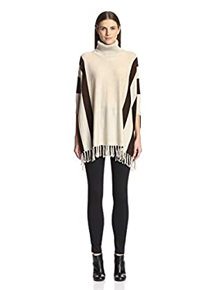 525 America Women's Stripe Poncho with Fringe