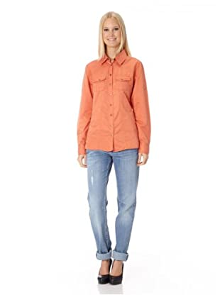 BLUE FIRE Seidenbluse Warren Cowboy Fancy (Orange)
