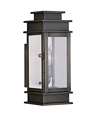 Crestwood Amelia 1-Light Wall Lantern, Vintage Pewter