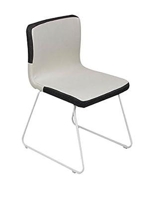 Modern Home Stuhl beige/schwarz