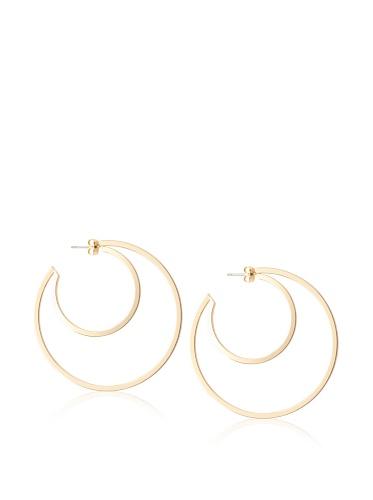 Jules Smith Gold Art Deco Hoop Earrings