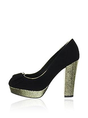 Menbur Zapatos de Tacón Alto (Negro)