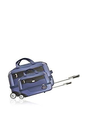 Potiron 2er Set Trolley Tasche Cokpit dunkelblau