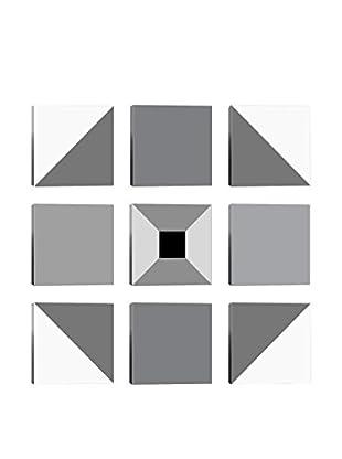 Shadow Vortex 9-Tile Giclée on Canvas