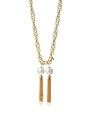 Fragments Double Tassels Pearls Necklace