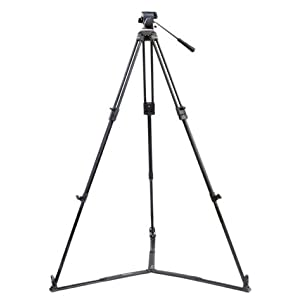"Flyfilms 75mm 59"" Aluminum Professional Camera Portable Tripod Stand Fluid head FREE Spreader Bag For Digital Cameras Camcorder"