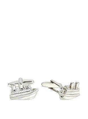 Ortiz & Reed Manschettenknopf Silver-Color Brass Cufflinks