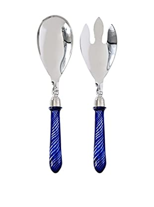 Cadiz Salad Servers, Blue