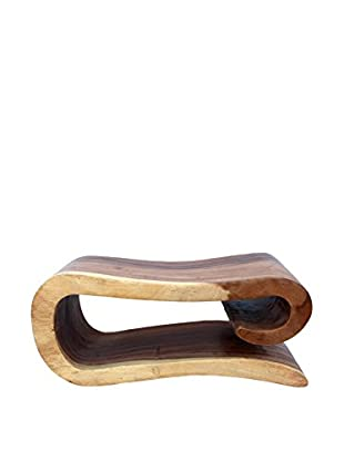 Asian Art Imports Wave Stool, Natural