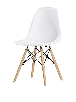kitchen Furniture Set Silla 4 Uds. Blanco
