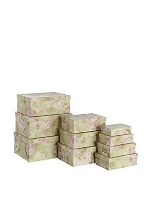 Chateau chic Aufbewahrungsbox 10er Set grün