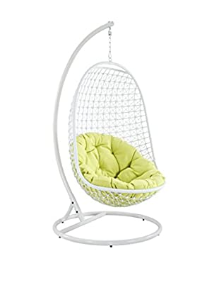 Modway Encounter Swing Outdoor Patio Lounge Chair, White