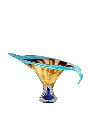 Dale Tiffany Kelso Art Glass Bowl, Blue Multi
