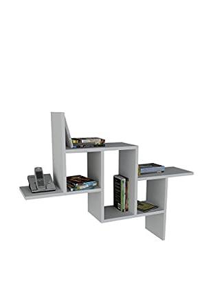 Dekorister Bücherregal Step weiß 22x107,2x81,8cm