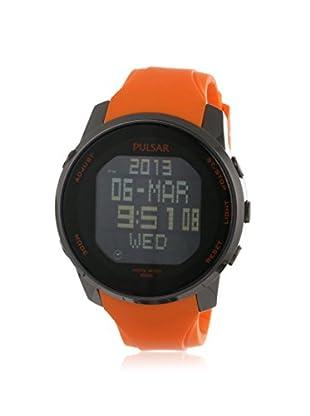 Pulsar by Seiko Men's PQ2013 Classic Digital Orange/Black Rubber Watch
