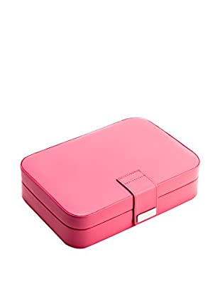 Bey-Berk Pink Leatherette 24 Section Jewelry Case
