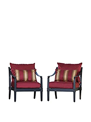 RST Brands Astoria Set of 2 Club Chairs, Red