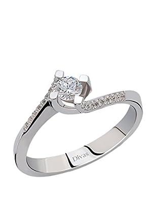 Divas Diamond Anillo 0,25 ct Gold Diamond Solitaire (Plateado)