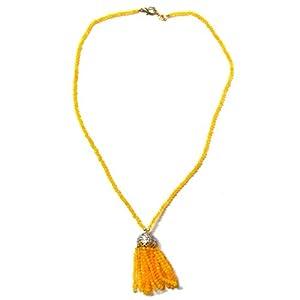 Daamak Jewellery Yellow Stone Beaded Necklace