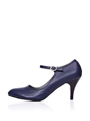 Ziya Zapatos Mary Jane Tacón (Azul Marino)