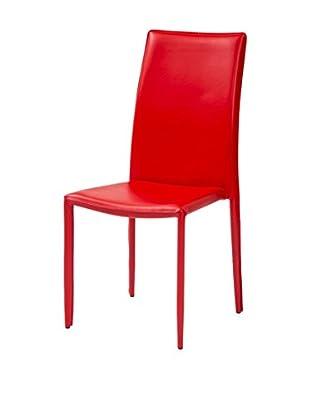 TINKEE Set Silla 4 Uds. Dedis Rojo