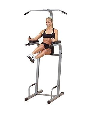 Body Solid Powerline Vertical Knee Raise, Grey/Black