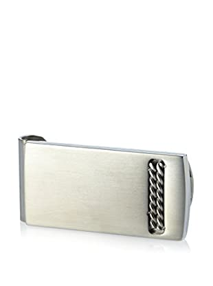 BlackJack Brushed & Polished Stainless Steel Double Cable Design Money Clip