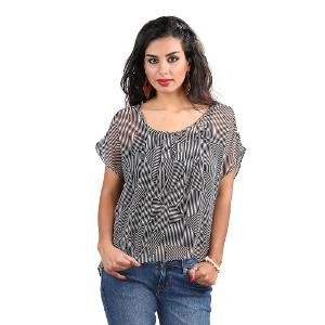 Eday Garments Women's Top - Black & White