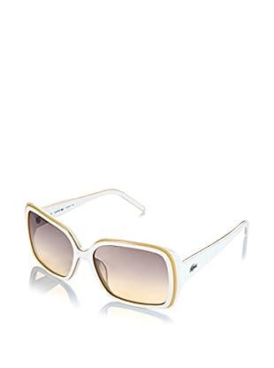 Lacoste Sonnenbrille L623S weiß/gelb