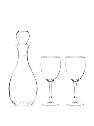 AdNArt Glass Wine Decanter and Wine Glass Set