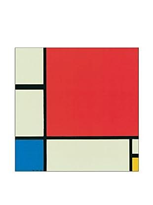 ArtopWeb Panel de Madera Composizione In Rosso, Blu E Giallo