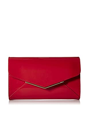 Furla Women's Cherie S Envelope Pochette Patent Leather, Ruby
